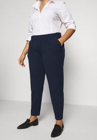 MY TRUE ME TOM TAILOR - SLEEK SUIT PANTS - Trousers - real navy blue - 3
