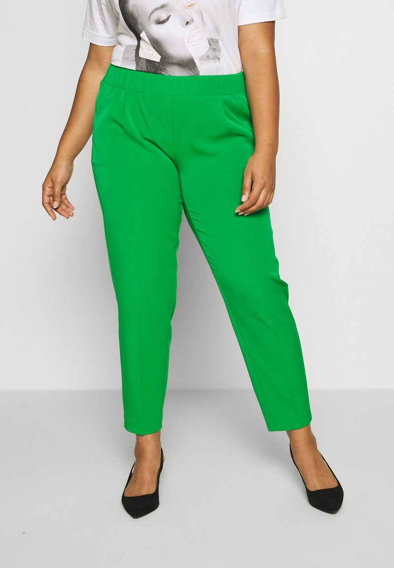 MY TRUE ME TOM TAILOR - SLEEK SUIT PANTS - Kangashousut - gras green