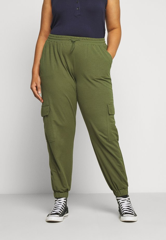 UTILITY PANTS - Trousers - cypress olive green