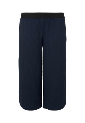 MY TRUE ME TOM TAILOR HOSEN  CHINO PLISSIERTE CULOTTE HOSE - Trousers - real navy blue