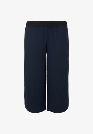 MY TRUE ME TOM TAILOR HOSEN  CHINO PLISSIERTE CULOTTE HOSE - Trousers - real navy blue
