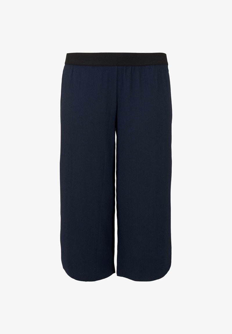 MY TRUE ME TOM TAILOR - MY TRUE ME TOM TAILOR HOSEN  CHINO PLISSIERTE CULOTTE HOSE - Trousers - real navy blue
