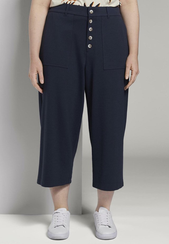 MY TRUE ME TOM TAILOR HOSEN & CHINO CULOTTE IM UTILITY-LOOK - Stoffhose - real navy blue