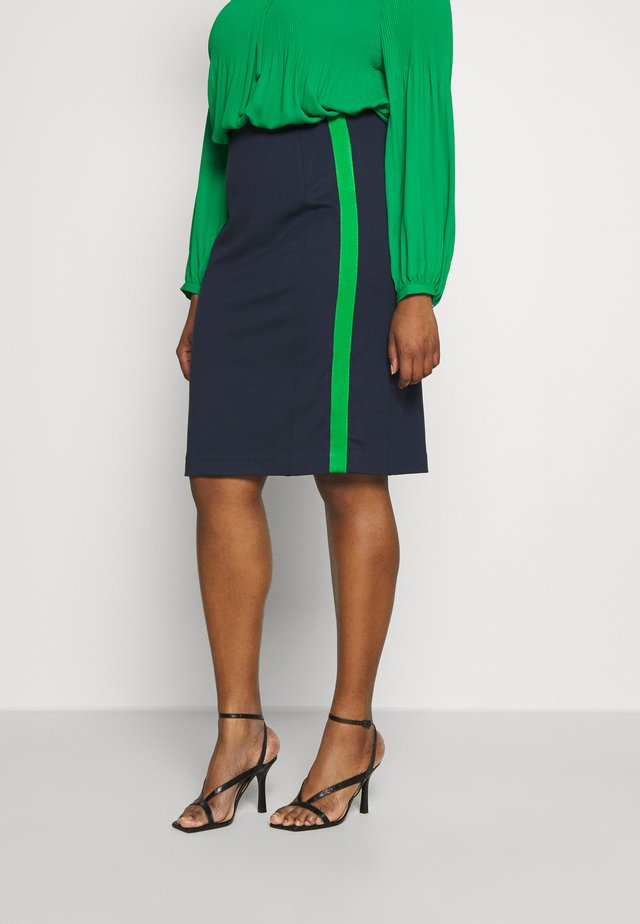 PANEL PENCIL SKIRT - Pouzdrová sukně - real navy blue