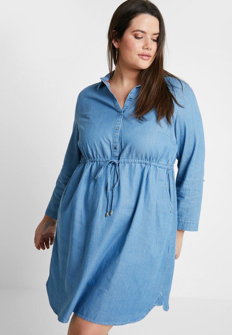 MY TRUE ME TOM TAILOR - DRESS - Vestido informal - mid stone bright blue denim