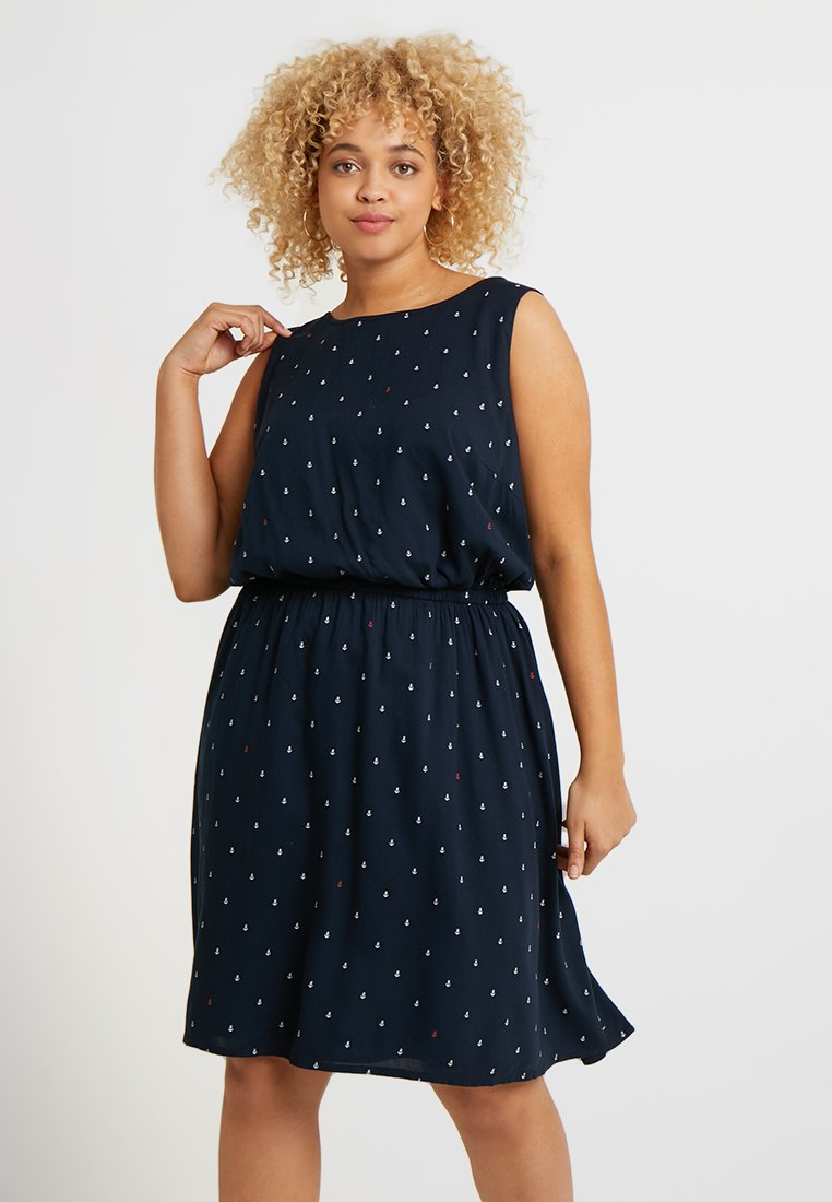 MY TRUE ME TOM TAILOR - EASY PRINT DRESS - Freizeitkleid - dark blue