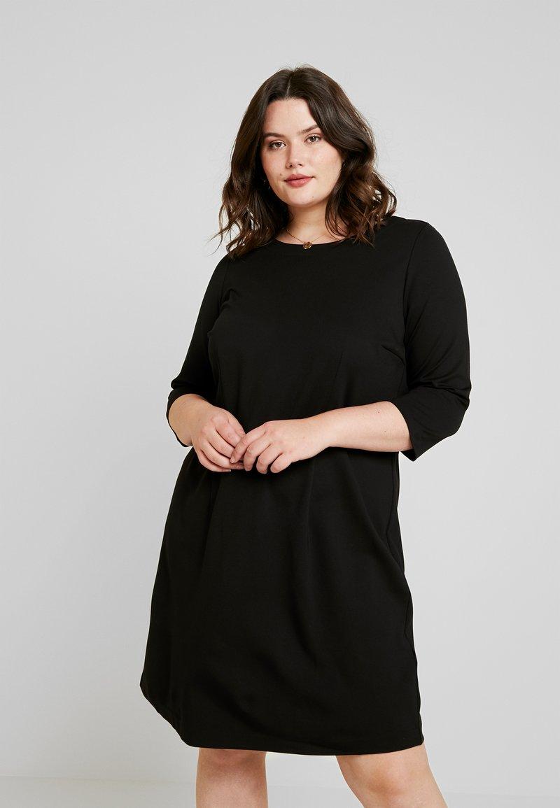 MY TRUE ME TOM TAILOR - DRESS PUNTO ROMA - Žerzejové šaty - deep black