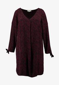 MY TRUE ME TOM TAILOR - SLEEVE SLIT DRESS - Kjole - burgundy/black - 5