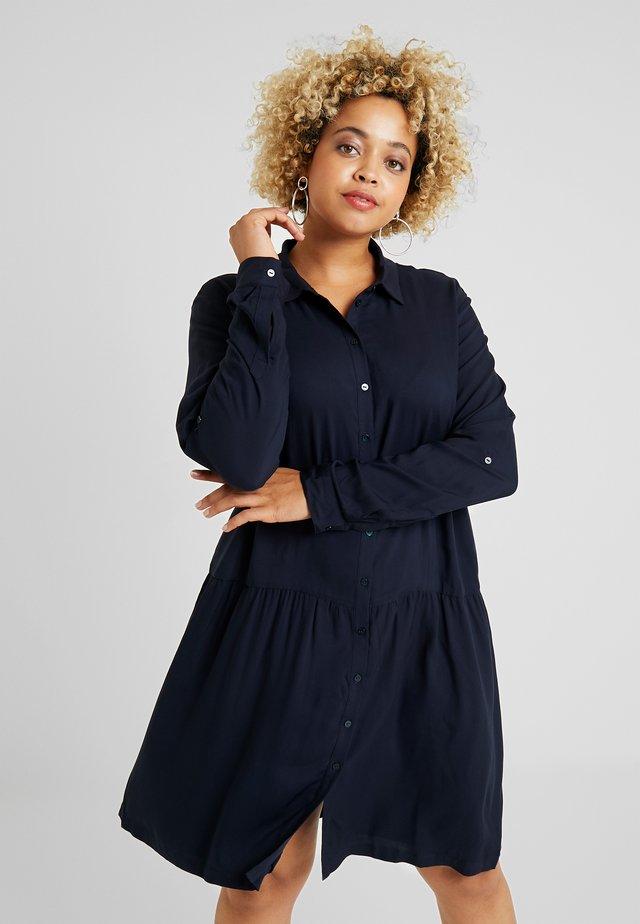 DRESS WITH TURN UPS - Shirt dress - sky captain blue