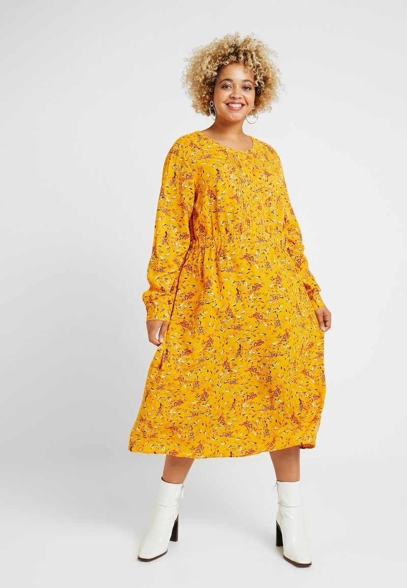 MY TRUE ME TOM TAILOR - WITH PINTUCKS - Day dress - yellow