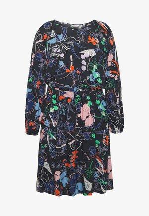 ELASTICATED WAIST DRESS - Kjole - navy blue