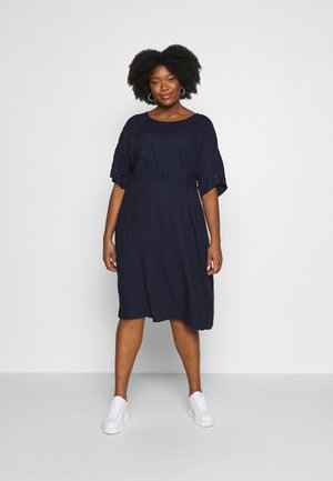 BELTED KIMONO DRESS - Day dress - real navy blue