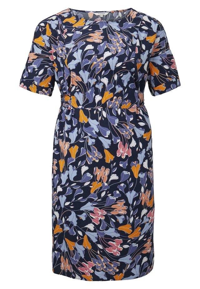 BELTED KIMONO DRESS - Korte jurk - colorful blue flower print