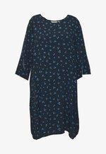 FLARE SLIT SLEEVE DRESS - Day dress - navy/blue