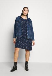 MY TRUE ME TOM TAILOR - FLARE SLIT SLEEVE DRESS - Robe d'été - navy/blue - 1