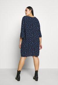MY TRUE ME TOM TAILOR - FLARE SLIT SLEEVE DRESS - Robe d'été - navy/blue - 2