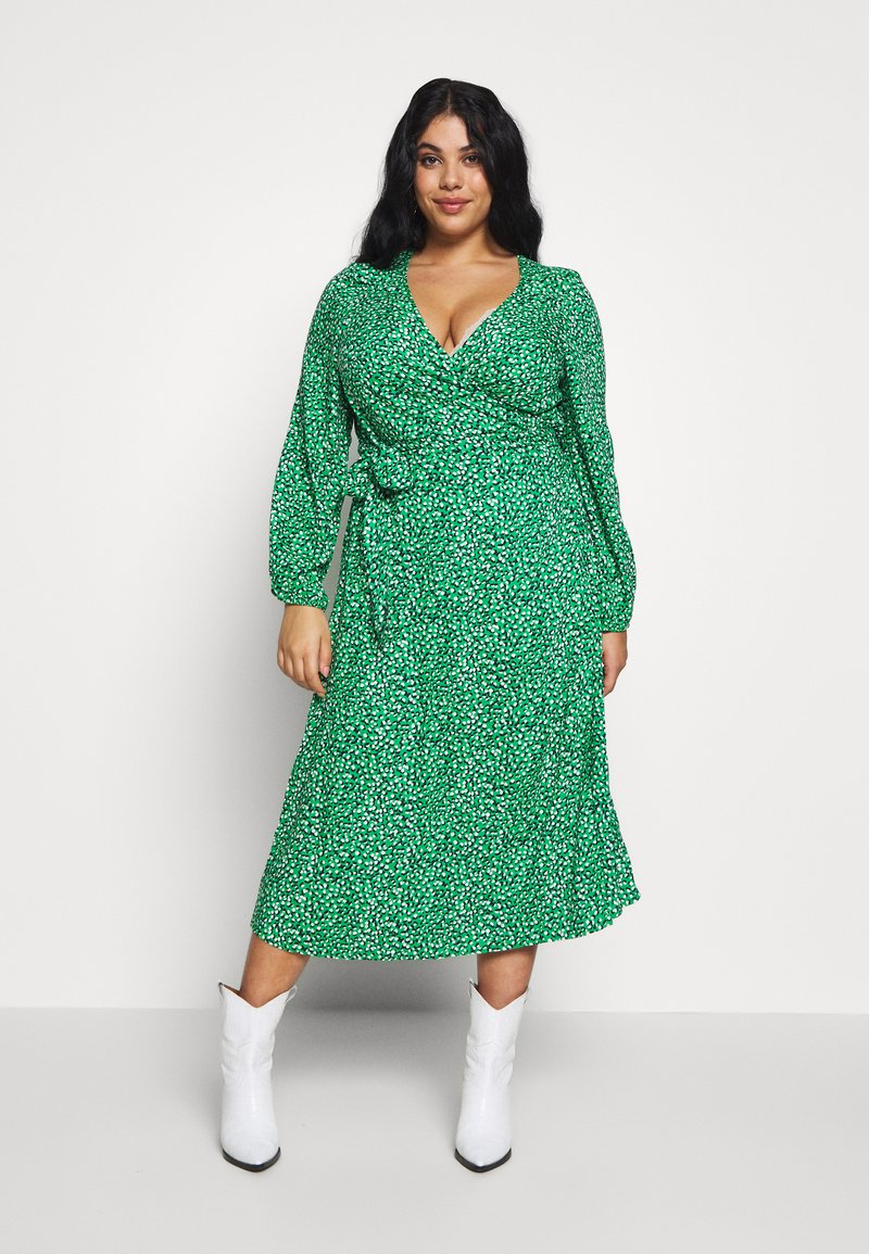 MY TRUE ME TOM TAILOR - WRAP DRESS - Day dress - green based design