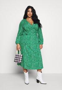 MY TRUE ME TOM TAILOR - WRAP DRESS - Day dress - green based design - 1