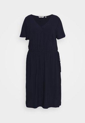 FEMININE FLUENT DRESS - Day dress - real navy blue