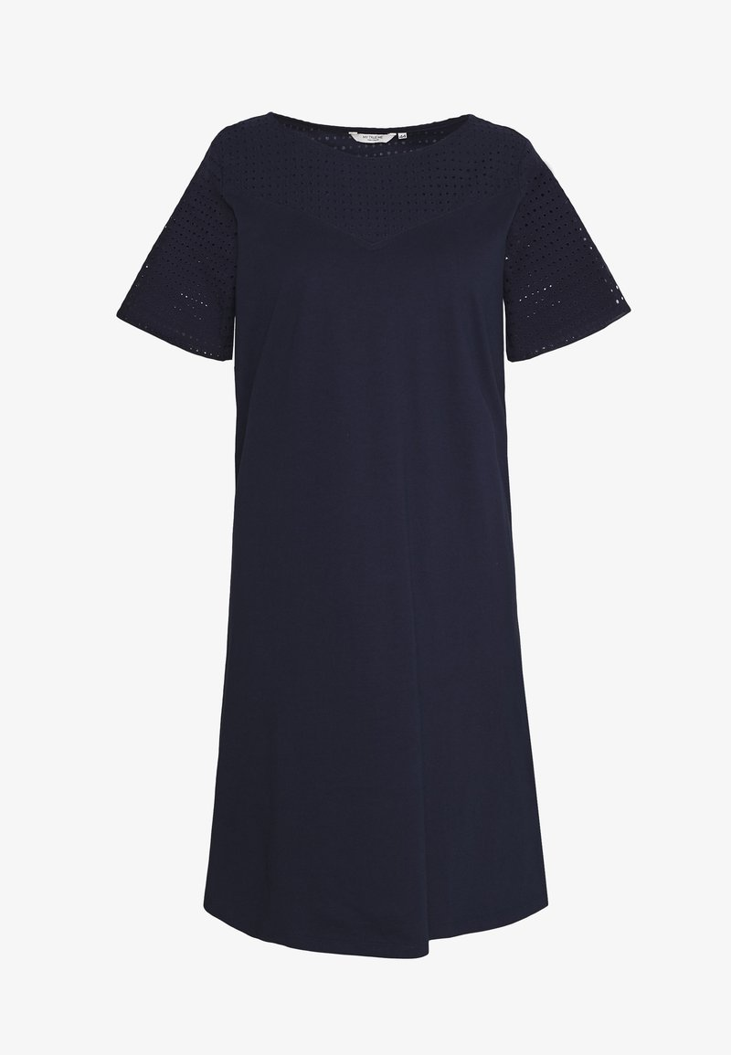MY TRUE ME TOM TAILOR - SCHIFLI MIX DRESS - Hverdagskjoler - real navy blue