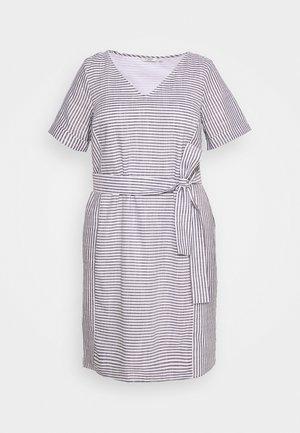 EASY SLUB STRIPE DRESS - Sukienka letnia - navy/white