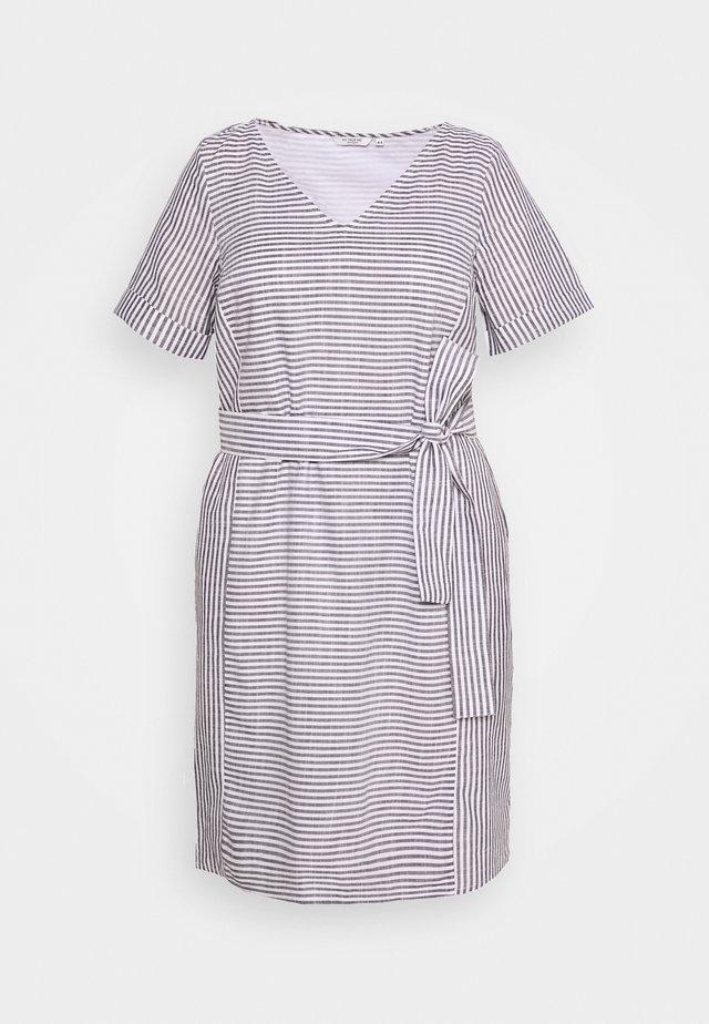 EASY SLUB - Denní šaty - navy/white