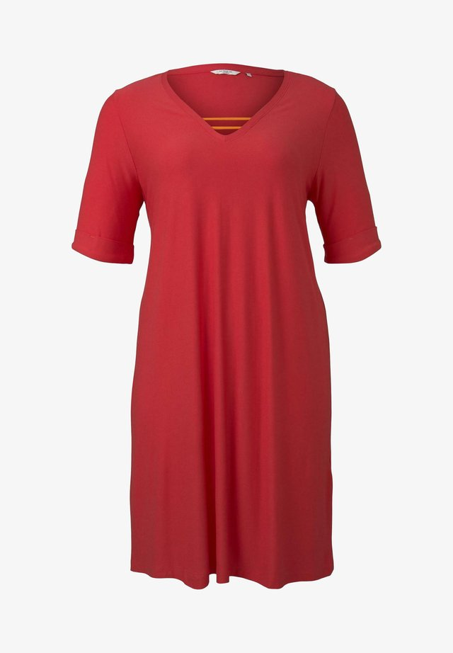 MY TRUE ME TOM TAILOR KLEIDER & JUMPSUITS SCHLICHTES BASIC KLEID - Korte jurk - virtual rec