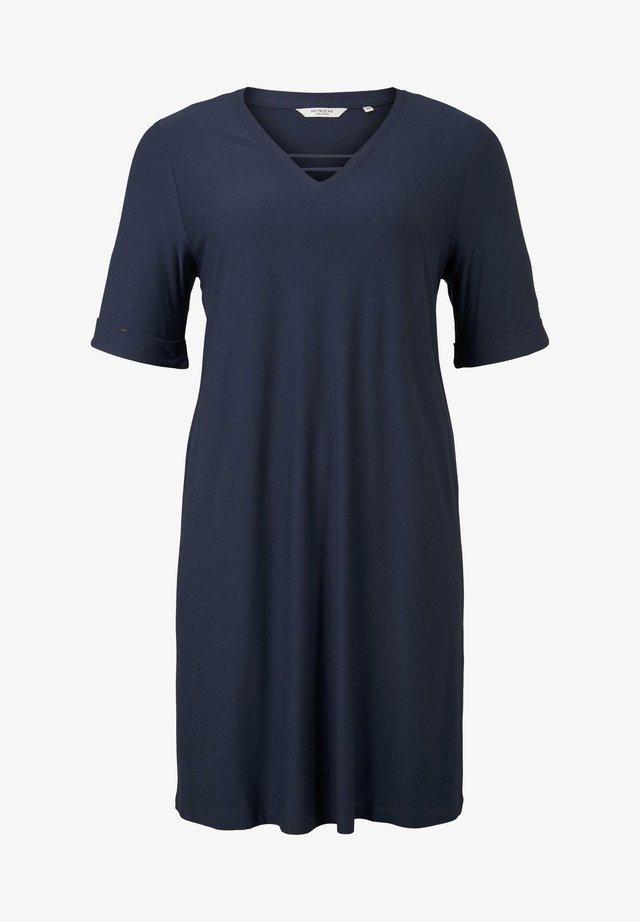 MY TRUE ME TOM TAILOR KLEIDER & JUMPSUITS SCHLICHTES BASIC KLEID - Korte jurk - real navy blue