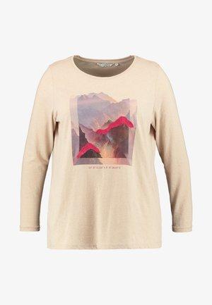 PRINT LONGSLEEVE - Top sdlouhým rukávem - light camel brown
