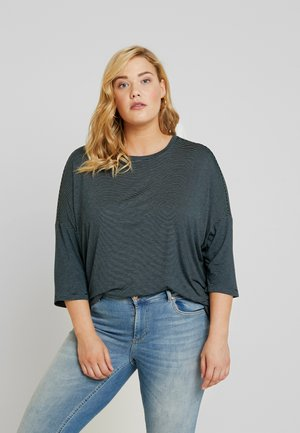Long sleeved top - mint/navy