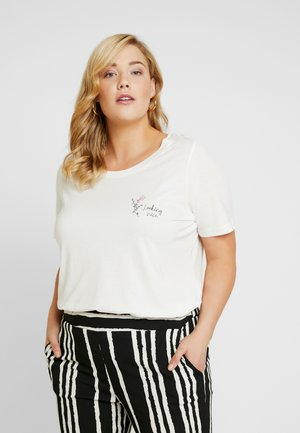 FRONT PRINT - Camiseta estampada - whisper white