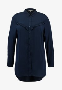 MY TRUE ME TOM TAILOR - PRINTED SHIRT WITH FRILL - Overhemdblouse - sky captain blue - 3