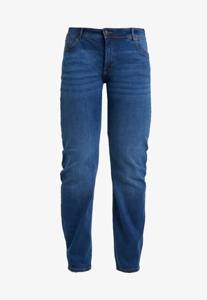 BASIC LEG - Jean slim - used mid stone blue denim