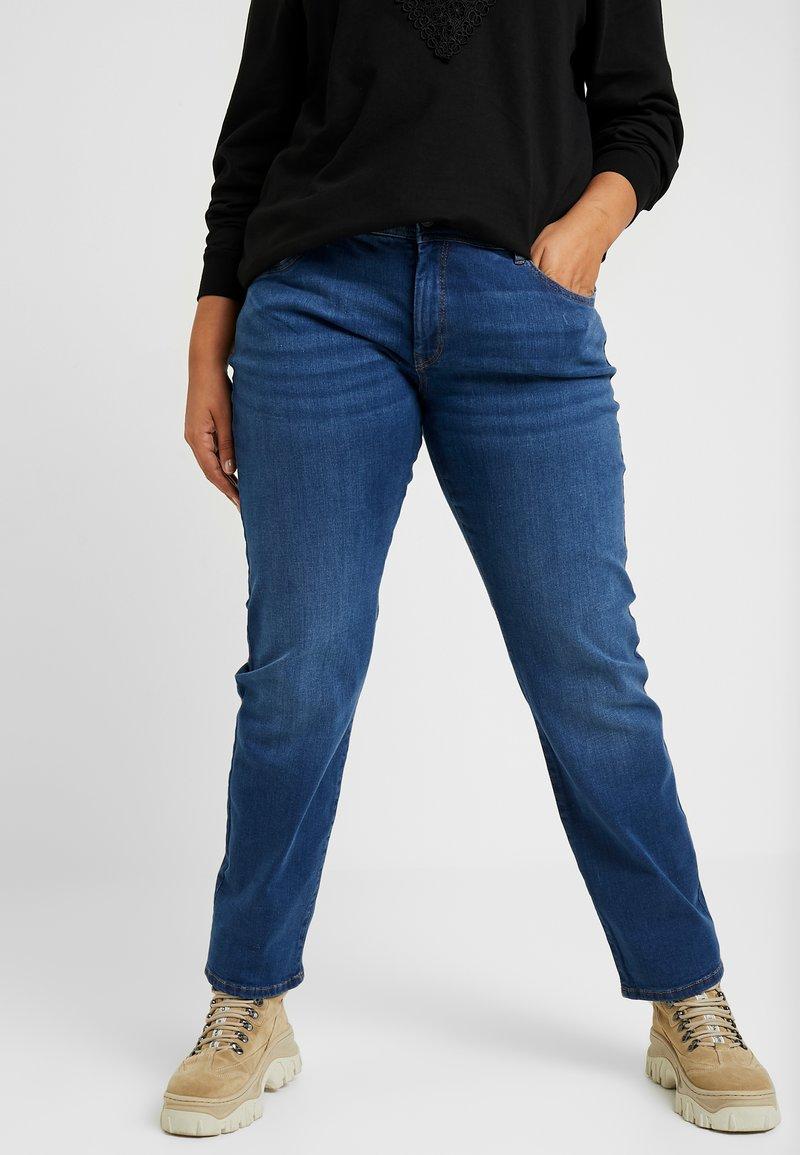 MY TRUE ME TOM TAILOR - BASIC LEG - Jeans Slim Fit - used mid stone blue denim
