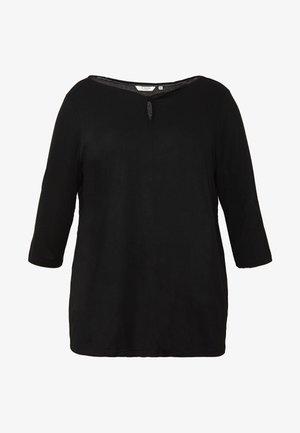 TWIST - T-shirt à manches longues - deep black