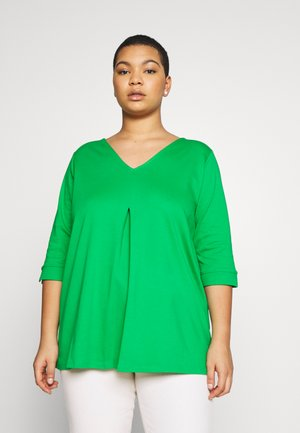 WITH PLEAT - Long sleeved top - gras green