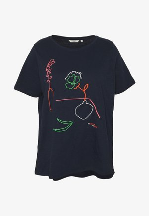 WITH EMBROIDERY - T-shirt imprimé - real navy blue