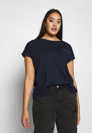 Print T-shirt - real navy blue
