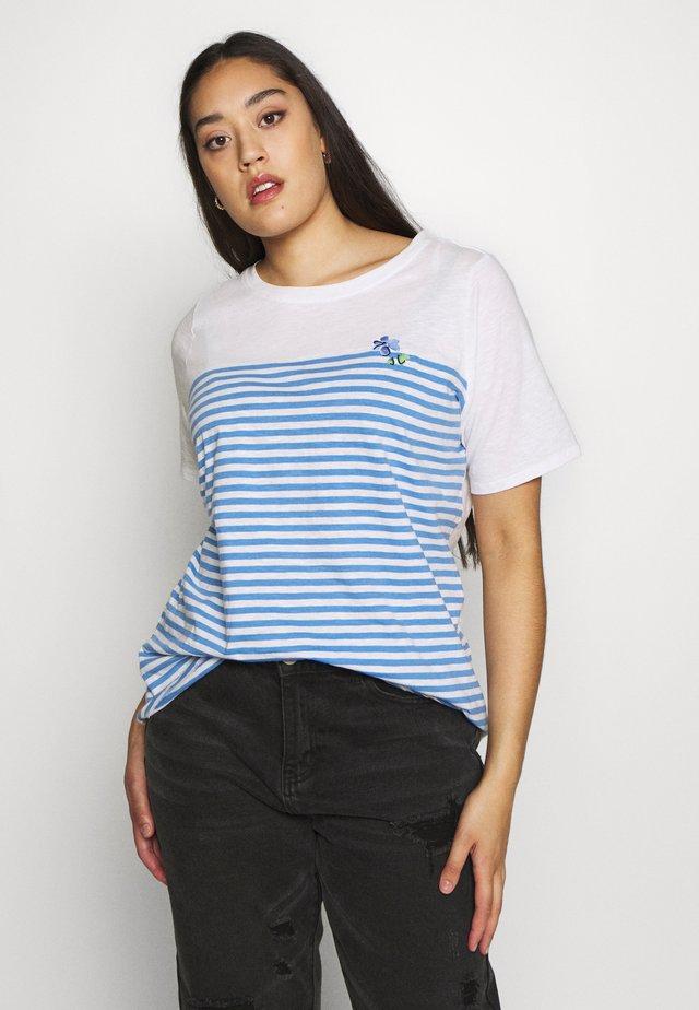 T-shirts print - whisper white/white