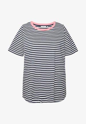 YARN DYE STRIPES T SHIRT - Printtipaita - navy stripe
