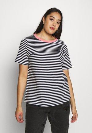 YARN DYE STRIPES T SHIRT - T-shirt print - navy stripe