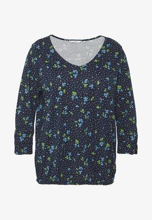 WITH SLEEVE DETAIL - Langærmede T-shirts - dark blue