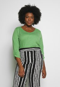MY TRUE ME TOM TAILOR - WITH SLEEVE DETAIL - Long sleeved top - green - 0