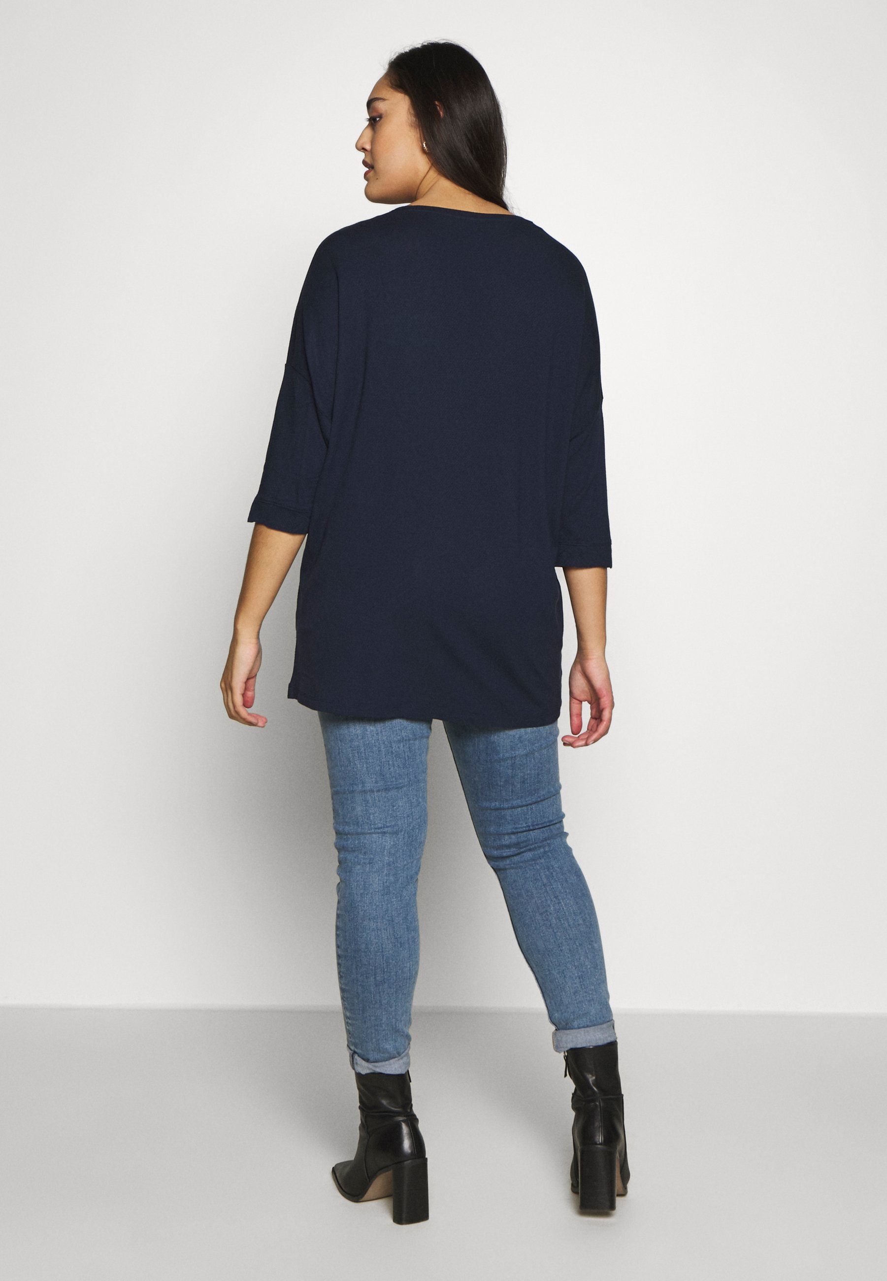 MY TRUE ME TOM TAILOR BATWING WITH CUFF DETAIL - Topper langermet - real navy blue