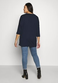 MY TRUE ME TOM TAILOR - BATWING WITH CUFF DETAIL - Langærmede T-shirts - real navy blue - 2