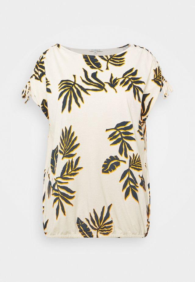 ADJUSTABLE SHOULDER - T-shirt print - beige/navy/orange