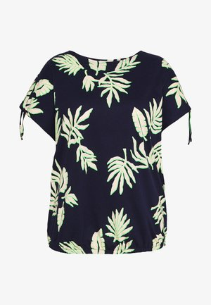 ADJUSTABLE SHOULDER - T-shirts print - navy beige green