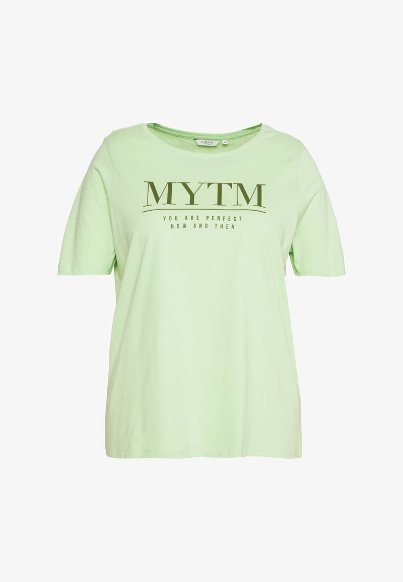 MY TRUE ME TOM TAILOR - WITH FRONT ARTWORK - T-shirts print - pistachio green