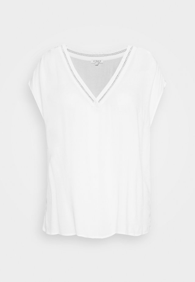 CAP SLEEVE BLOUSE - Blůza - white