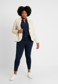MY TRUE ME TOM TAILOR - BLOUSE SOLID WITH FOLDED HEM - Blouse - sky captain blue - 1